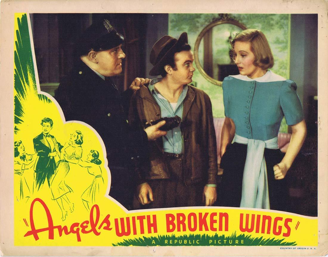 ANGELS WITH BROKEN WINGS Lobby Card 3 Jane Frazee Binnie Barnes Gilbert Roland