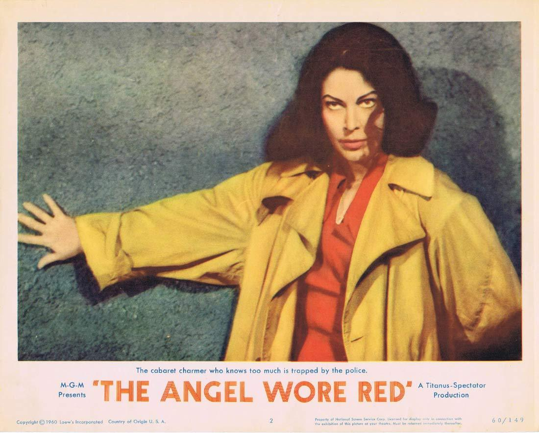 THE ANGEL WORE RED Original Lobby Card 2 Ava Gardner Dirk Bogarde
