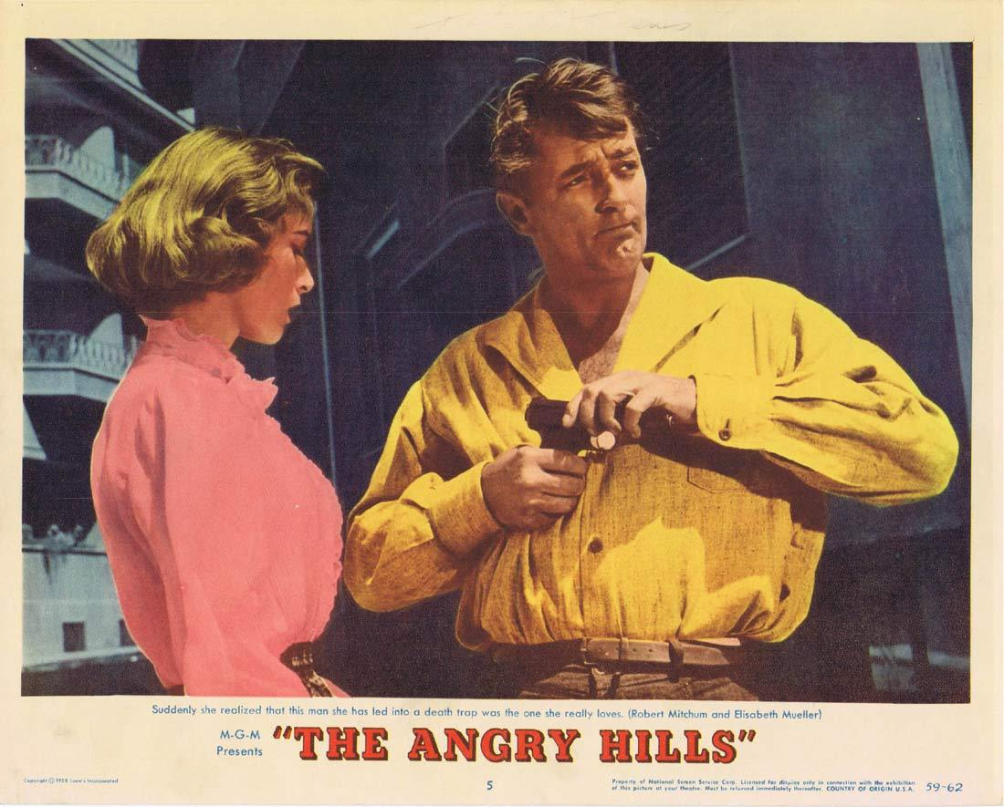 THE ANGRY HILLS Original Lobby Card 5 Robert Mitchum Stanley Baker