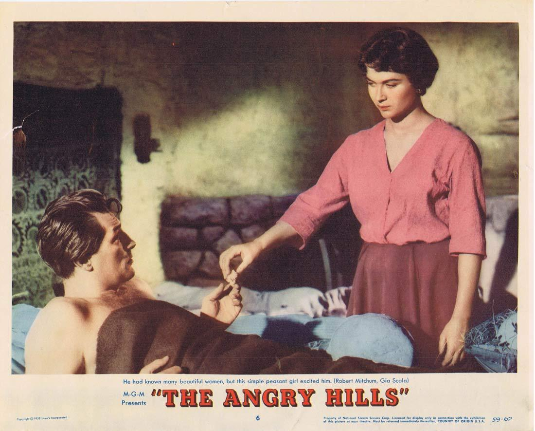 THE ANGRY HILLS Original Lobby Card 6 Robert Mitchum Stanley Baker