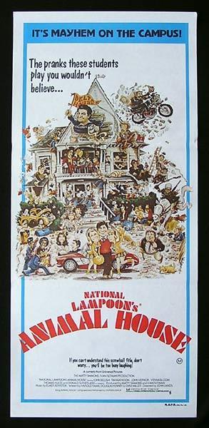ANIMAL HOUSE Daybill Movie Poster John Belushi