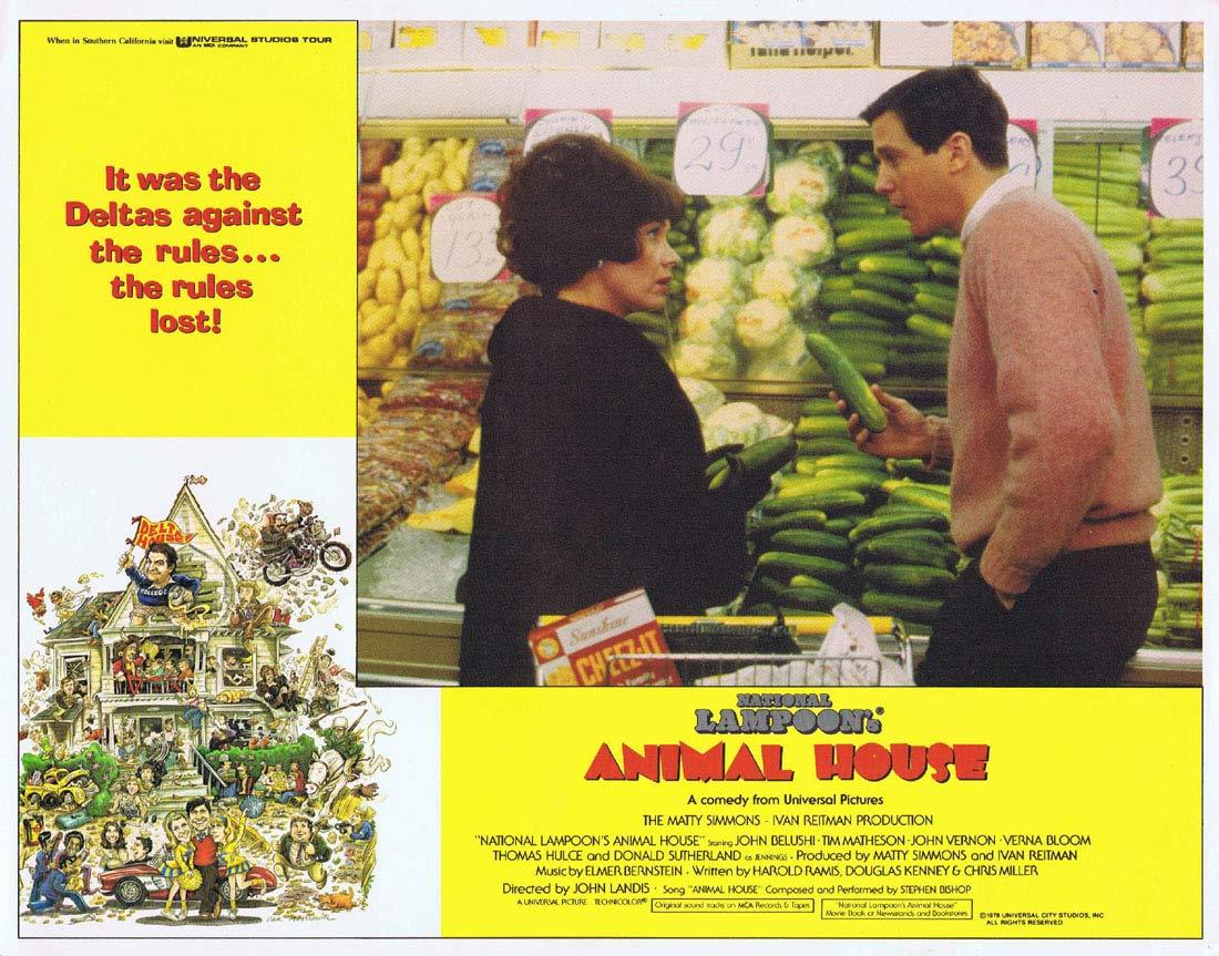 NATIONAL LAMPOON'S ANIMAL HOUSE Original Lobby Card 2 Tim Matheson John Belushi