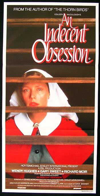 AN INDECENT OBSESSION Original daybill Movie Poster Wendy Hughes Gary Sweet