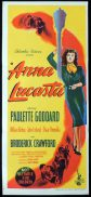 ANNA LUCASTA Original Daybill Movie Poster Paulette Goddard