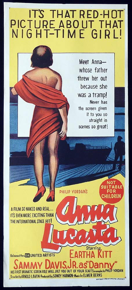 ANNA LUCASTA Original Daybill Movie Poster Eartha Kitt
