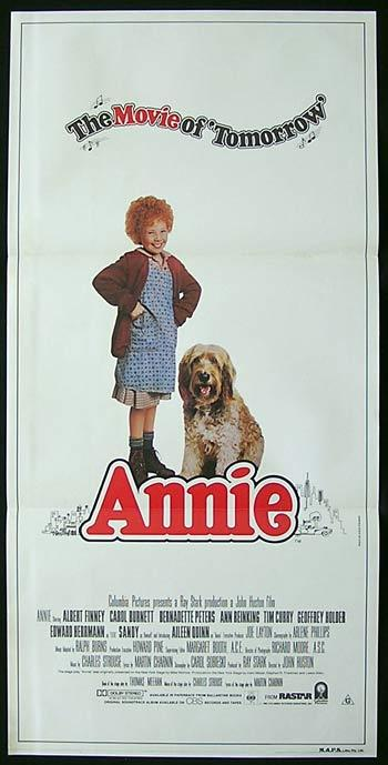 ANNIE Daybill Movie poster 1982 Finney Burnett