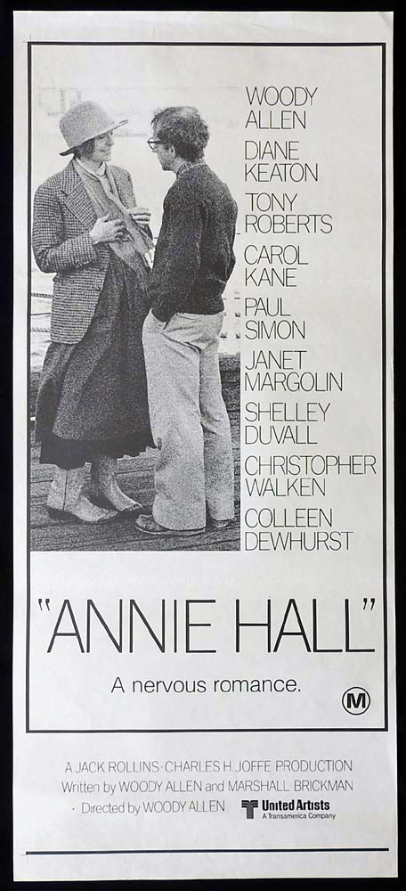 ANNIE HALL Original Daybill Movie Poster Woody Allen Diane Keaton