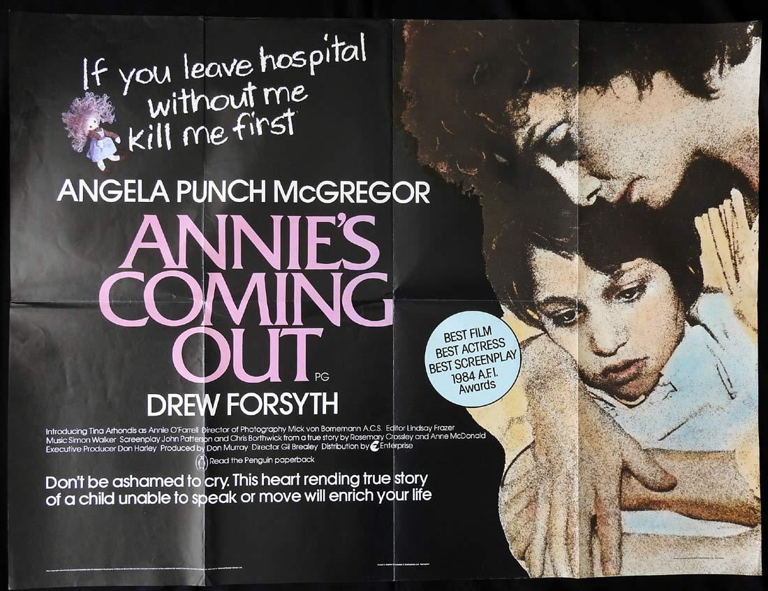 ANNIES COMING OUT British Quad Movie poster Angela Punch McGregor
