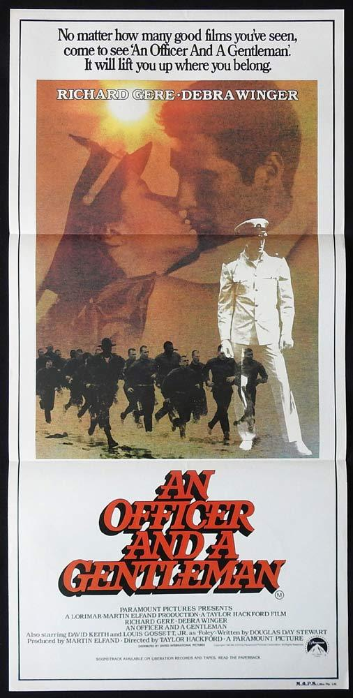AN OFFICER AND A GENTLEMAN Original Daybill Movie Poster Richard Gere Debra Winger