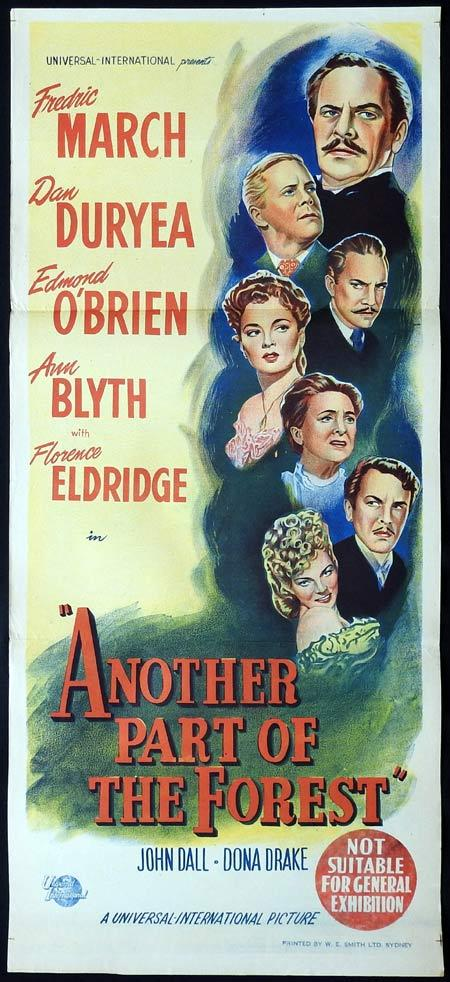 Another Part of the Forest, Michael Gordon, Fredric March Florence Eldridge Dan Duryea Edmond O'Brien