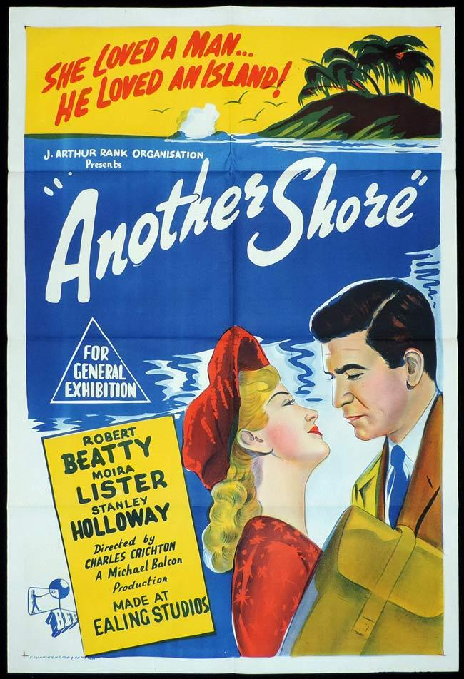 ANOTHER SHORE, Original One sheet, Movie Poster, Robert Beatty, Moira Lister, EALING Studios