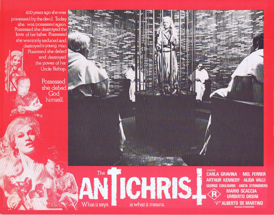 THE ANTICHRIST Lobby Card 1 Mel Ferrer Horror