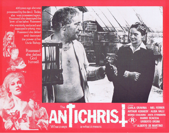THE ANTICHRIST Lobby Card 2 Mel Ferrer Horror