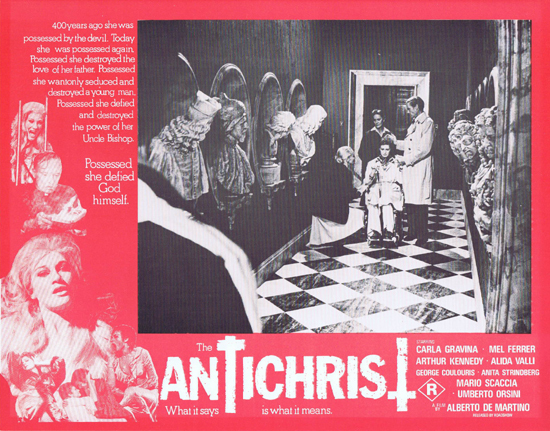 THE ANTICHRIST Lobby Card 3 Mel Ferrer Horror