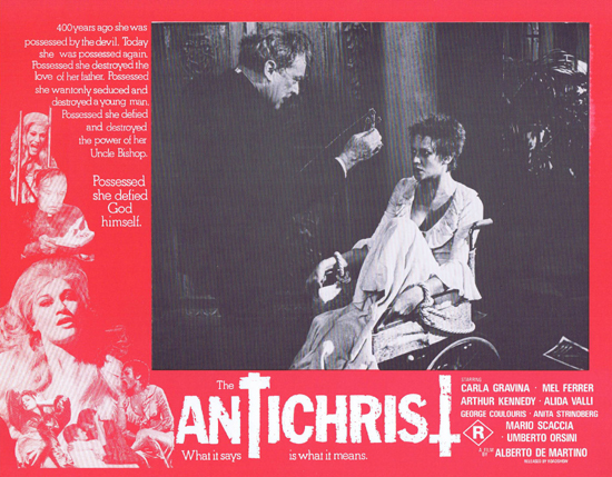 THE ANTICHRIST Lobby Card 8 Mel Ferrer Horror