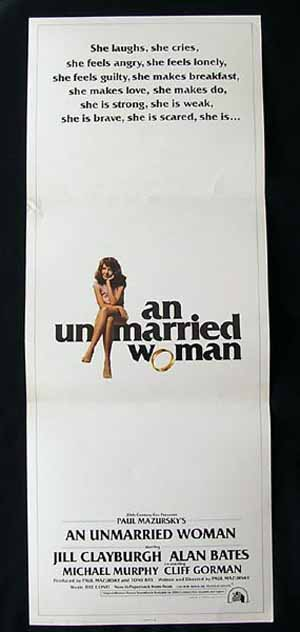 AN UNMARRIED WOMAN-Alan Bates-Clayburgh '78 Insert