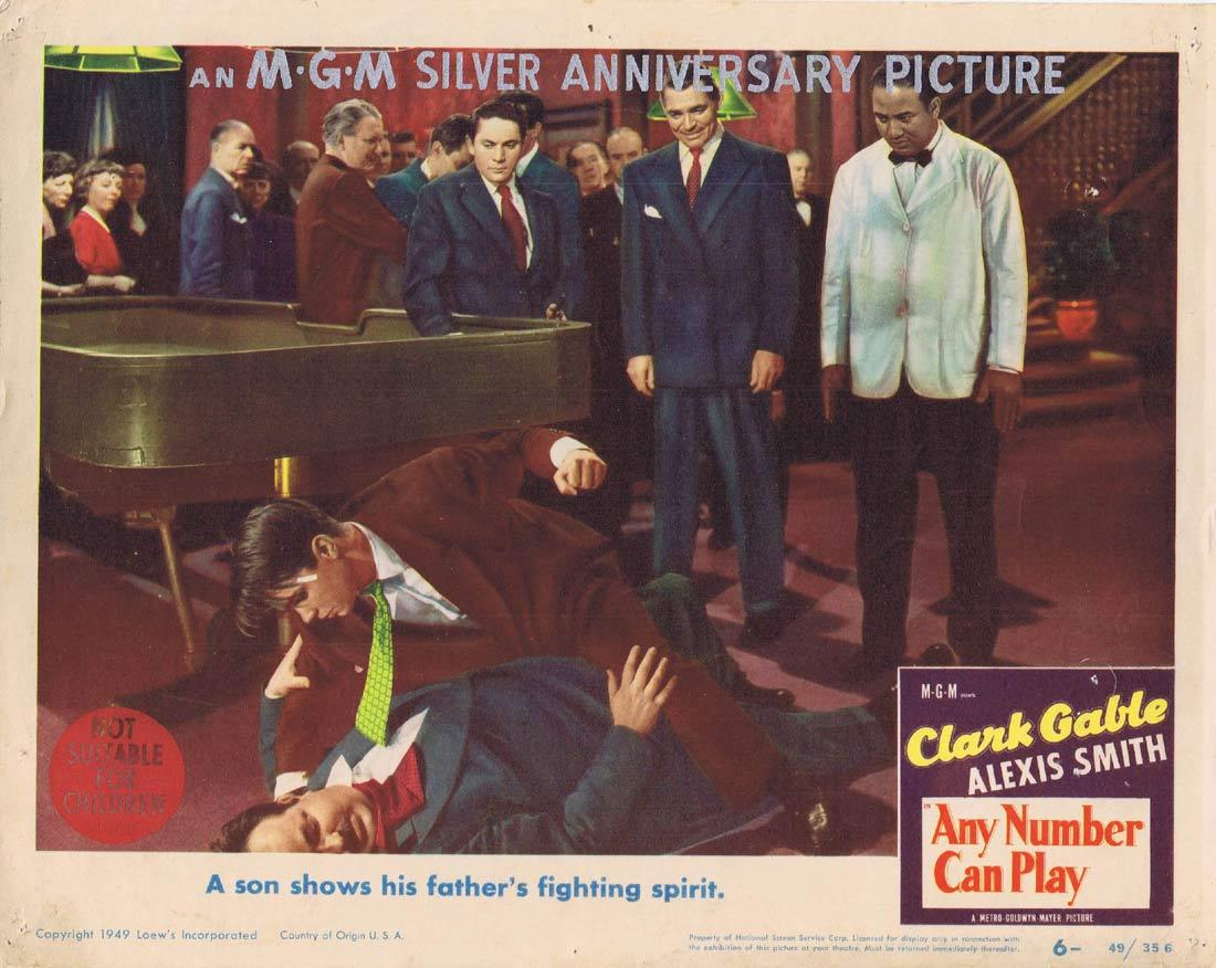 ANY NUMBER CAN PLAY Vintage Movie Lobby Card 6 Clark Gable Alexis Smith