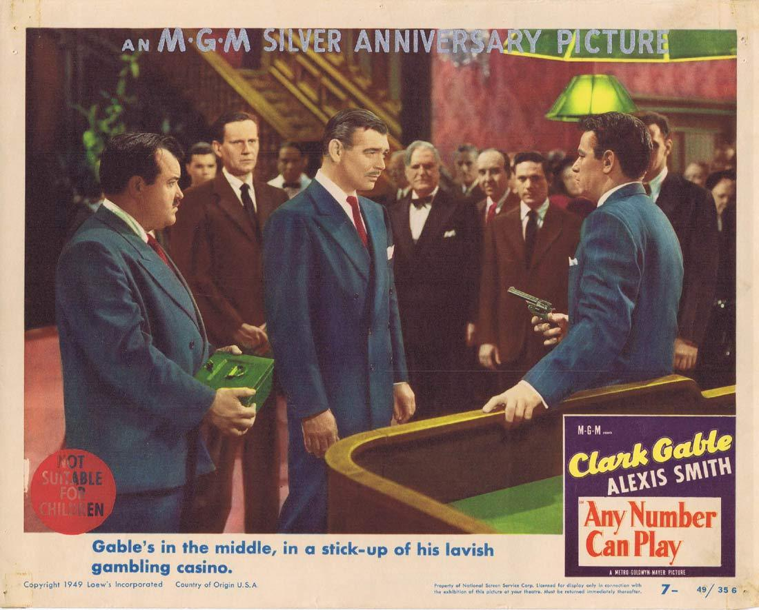 ANY NUMBER CAN PLAY Lobby Card 7 Clark Gable Alexis Smith