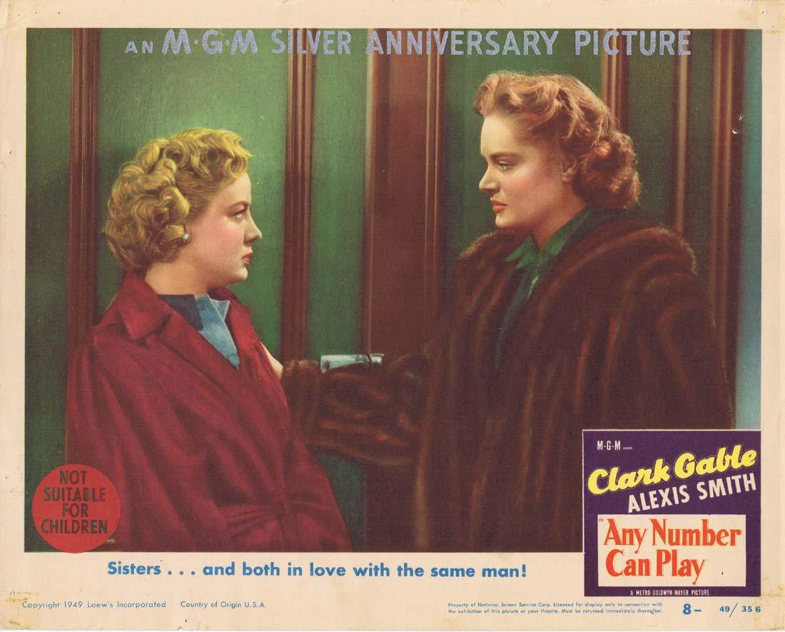 ANY NUMBER CAN PLAY Lobby Card 8 Clark Gable Alexis Smith