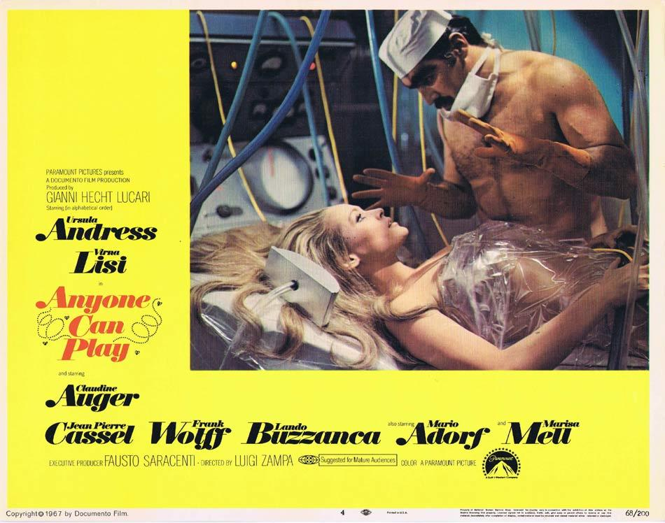 ANYONE CAN PLAY Lobby Card 4 Ursula Andress Virna Lisi Claudine Auger