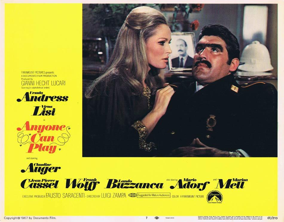 ANYONE CAN PLAY Lobby Card 7 Ursula Andress Virna Lisi Claudine Auger