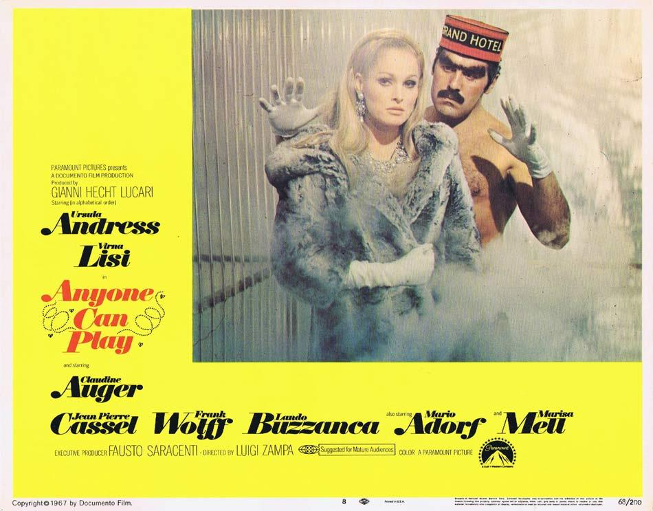 ANYONE CAN PLAY Lobby Card 8 Ursula Andress Virna Lisi Claudine Auger