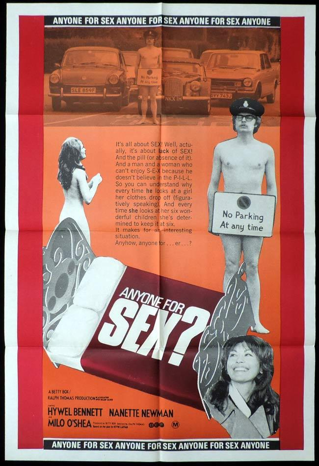 ANYONE FOR SEX aka THE LOVE BARN One Sheet Movie Poster Hywel Bennett