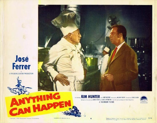 ANYTHING CAN HAPPEN 1952 Jose Ferrer US Lobby card 4