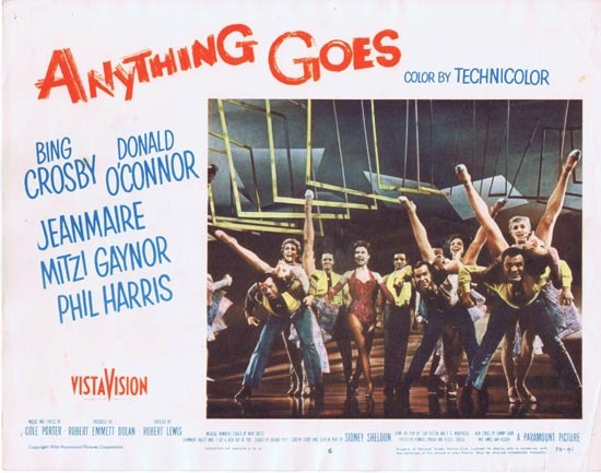 ANYTHING GOES 1956 Bing Corsby Donald O'Connor Lobby card 6