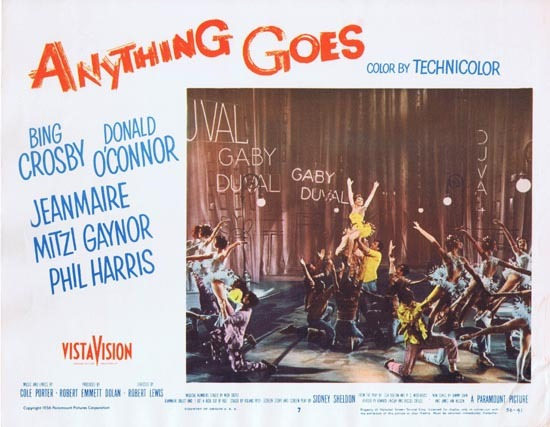 ANYTHING GOES 1956 Mitzi Gaynor Lobby card 7