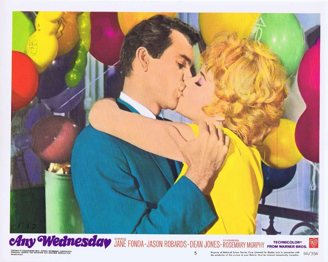 ANY WEDNESDAY Lobby Card 5 Jane Fonda Jason Robards Dean Jones Rosemary Murphy