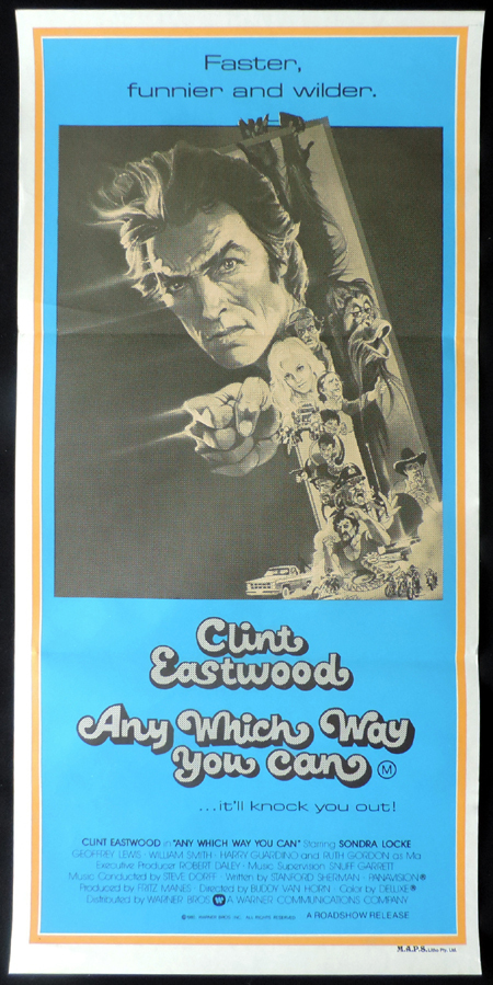 ANY WHICH WAY YOU CAN Original Daybill Movie poster Clint Eastwood