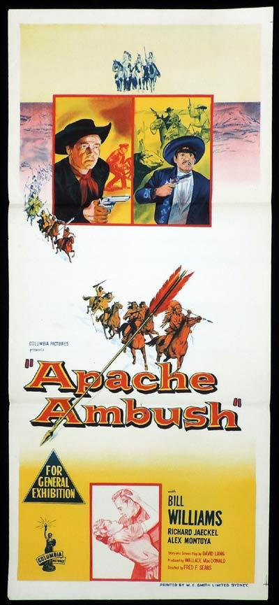APACHE AMBUSH Daybill Movie poster Bill Williams