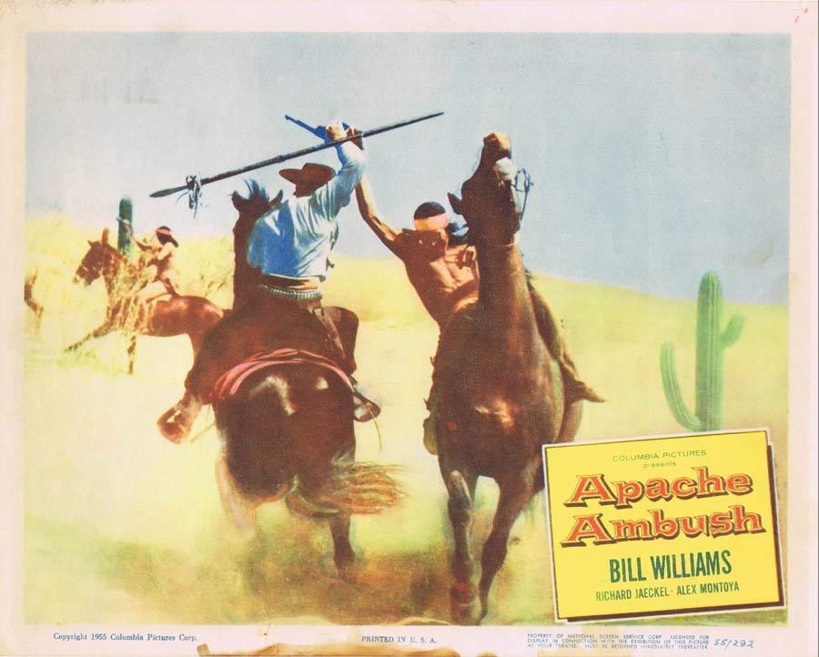APACHE AMBUSH Lobby Card 2 1955 Bill Williams American Indian
