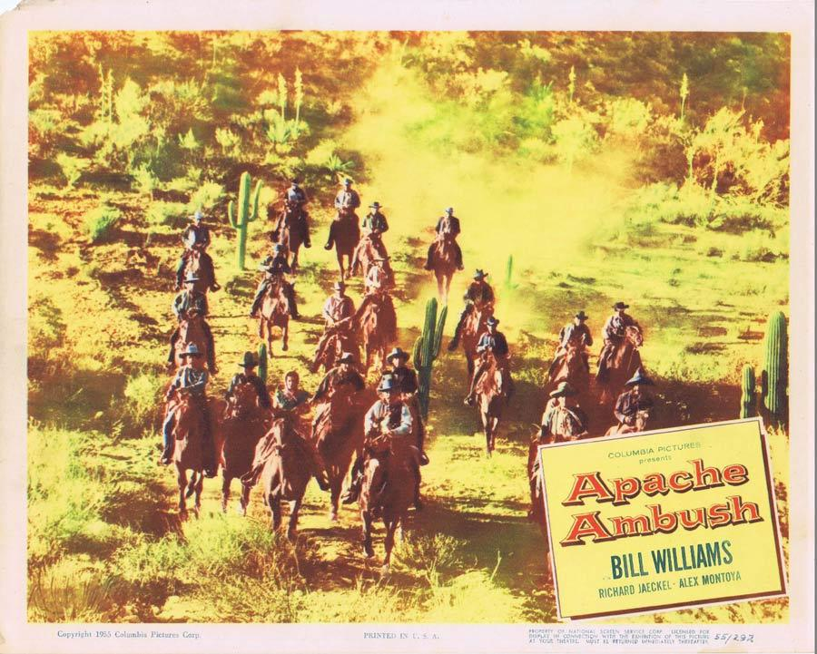 APACHE AMBUSH Lobby Card 3 1955 Bill Williams American Indian