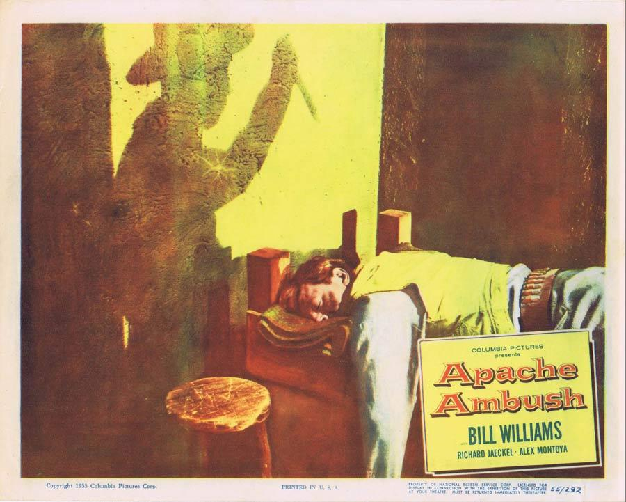 APACHE AMBUSH Lobby Card 4 1955 Bill Williams American Indian