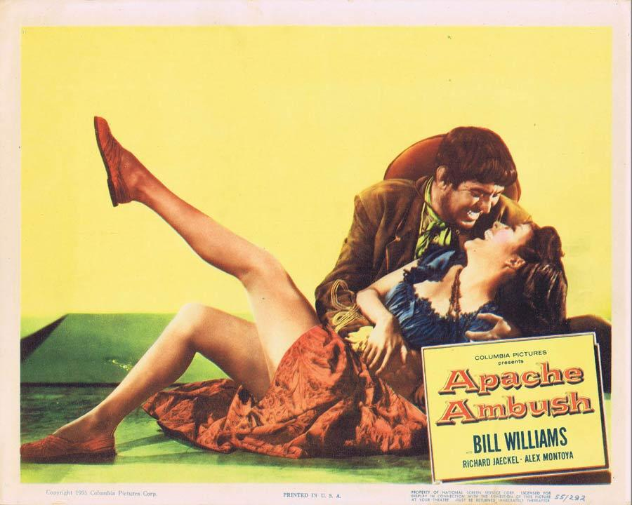 APACHE AMBUSH Lobby Card 6 1955 Bill Williams American Indian