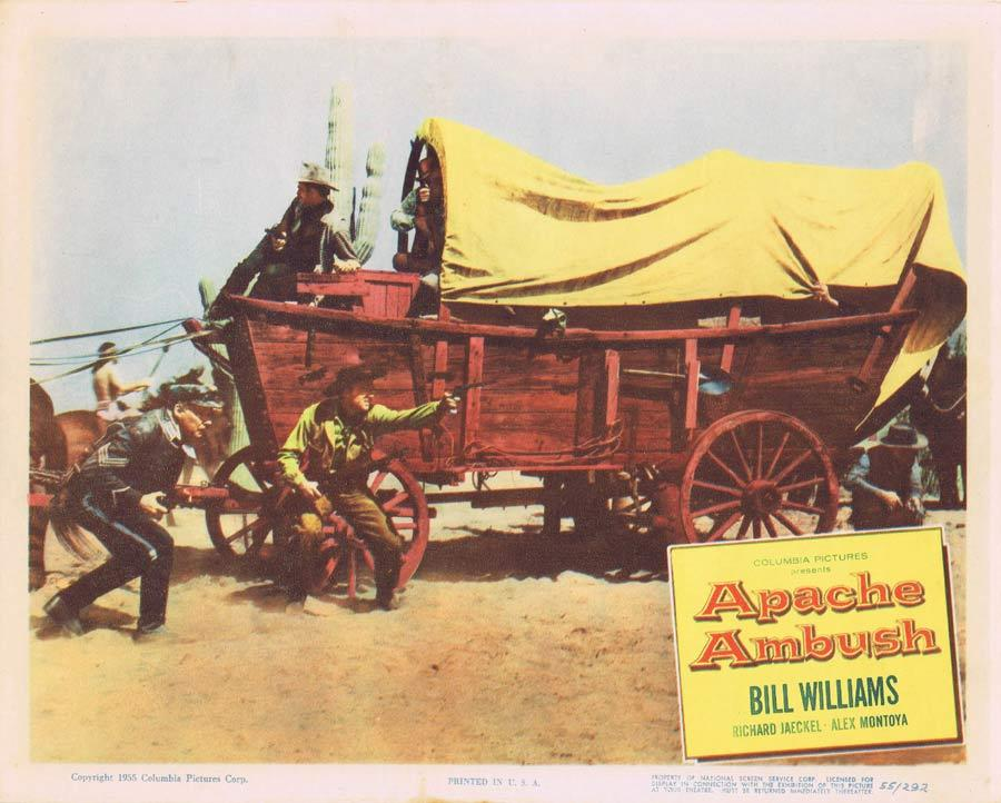 APACHE AMBUSH Lobby Card 7 1955 Bill Williams American Indian