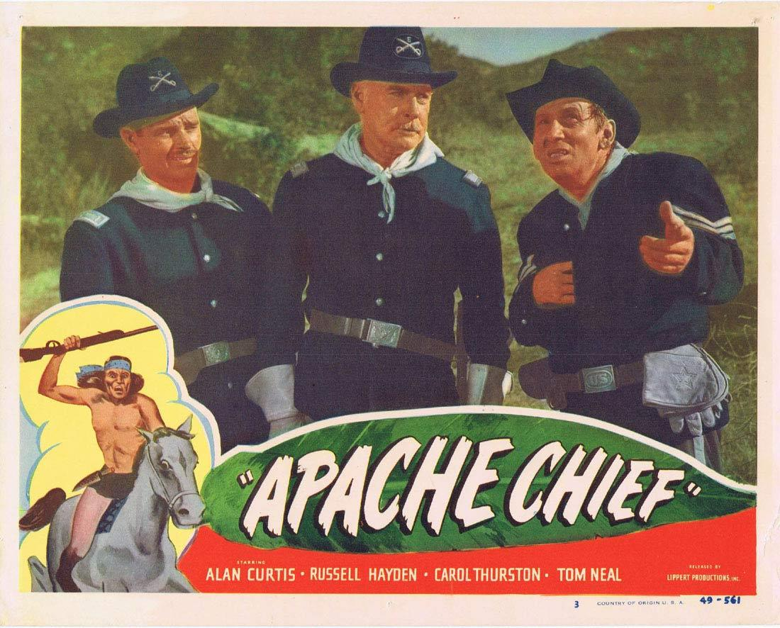 APACHE CHIEF Lobby Card 3 Alan Curtis Tom Neal Russell Hayden