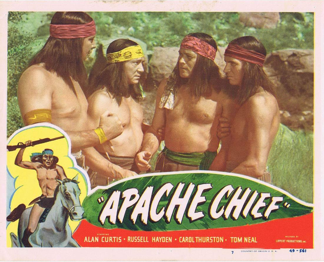 APACHE CHIEF Lobby Card 7 Alan Curtis Tom Neal Russell Hayden