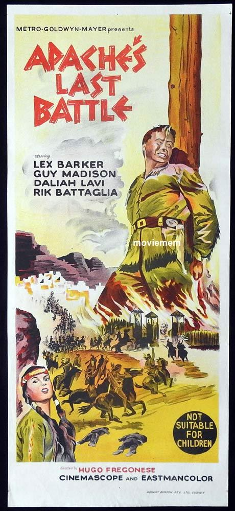 APACHE'S LAST BATTLE Old Shatterhand Original Daybill Movie Poster Lex Barker