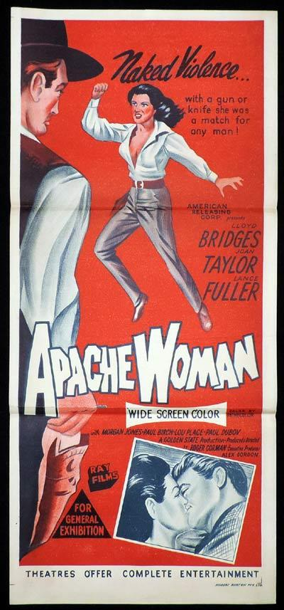 APACHE WOMAN Daybill Movie Poster Lloyd Bridges Western