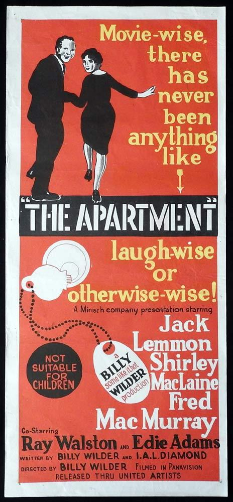 THE APARTMENT Original Daybill Movie Poster 1960 Billy Wilder Jack Lemmon