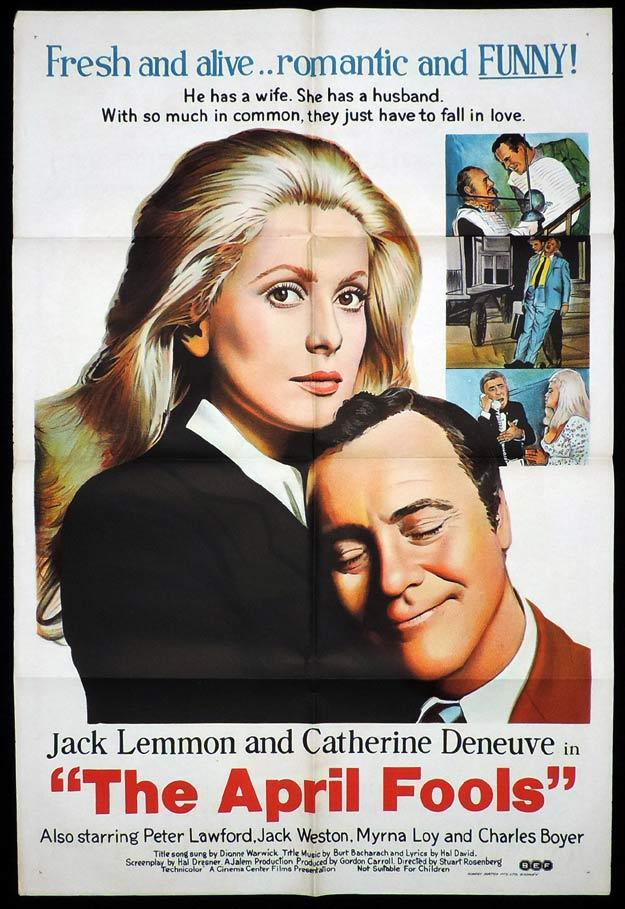 THE APRIL FOOLS One Sheet Movie Poster Catherine Deneuve Jack Lemmon