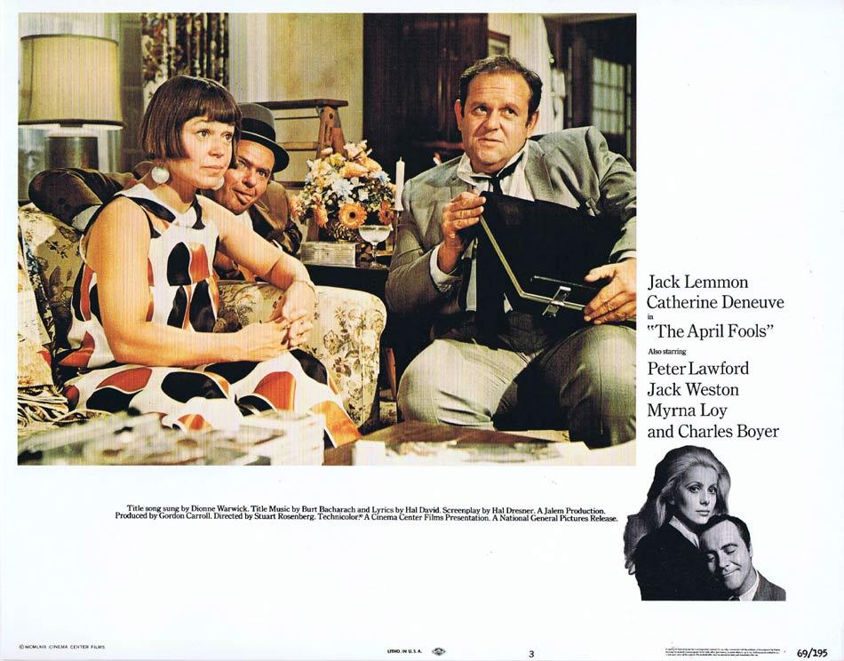 THE APRIL FOOLS Lobby Card 3 Jack Lemmon Catherine Deneuve Peter Lawford