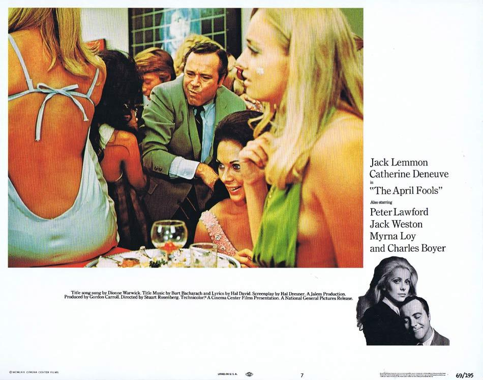 THE APRIL FOOLS Lobby Card 7 Jack Lemmon Catherine Deneuve Peter Lawford