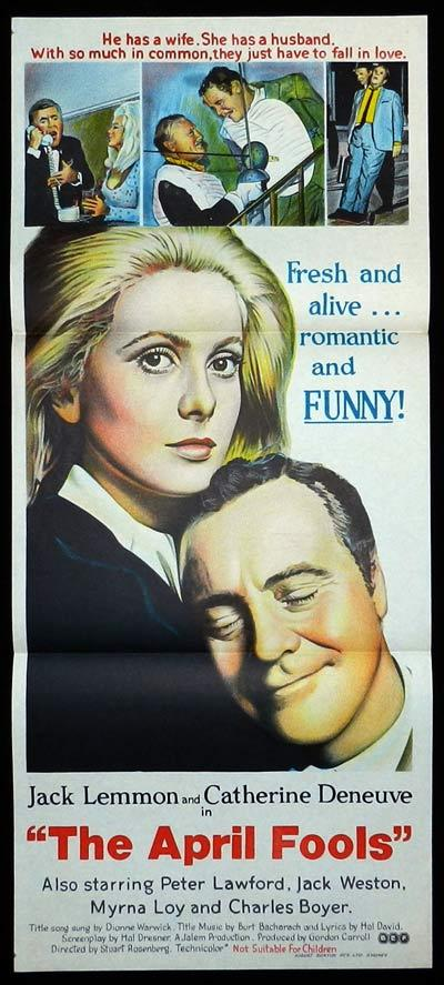 THE APRIL FOOLS Original Daybill Movie Poster Catherine Deneuve