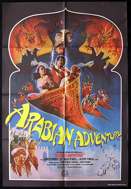Arabian Adventure, Kevin Connor, Christopher Lee, Milo O'Shea, Oliver Tobias, Emma Samms