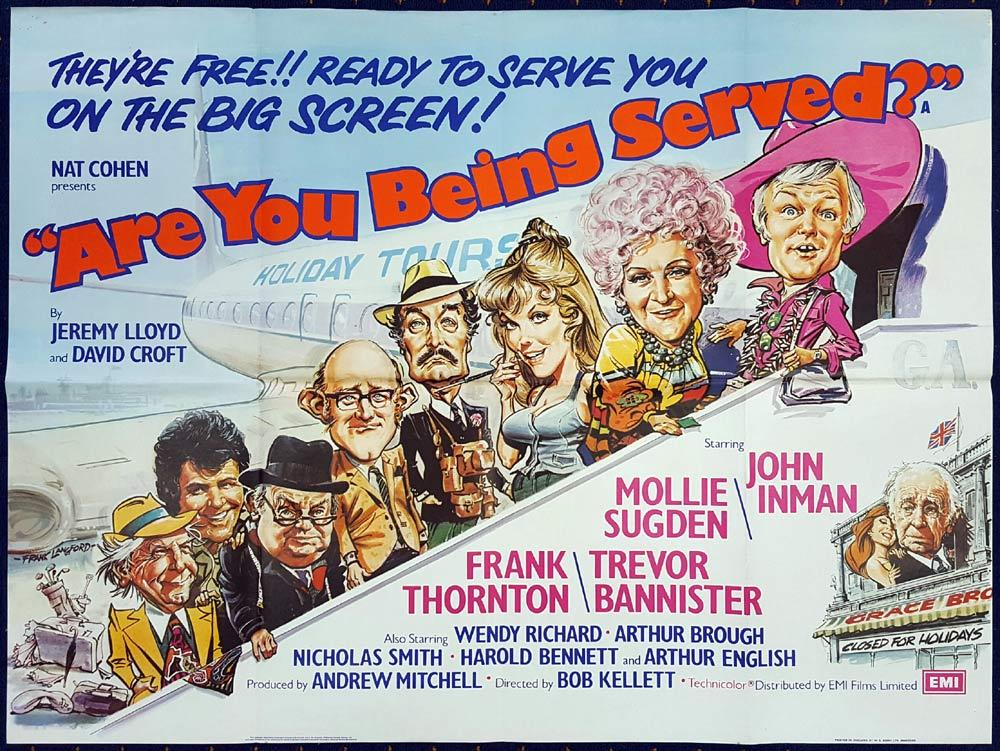 ARE YOU BEING SERVED British Quad Movie poster FRANK LANGFORD artwork