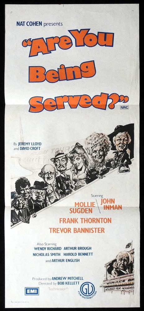 ARE YOU BEING SERVED Original Daybill Movie Poster Mollie Sugden